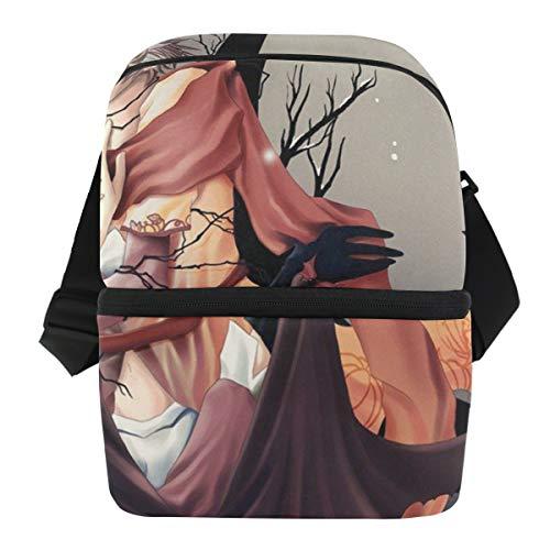Lovexue Lunch Bag Amazing Halloween Anime Wallpaper Reusable Cooler Bag Mens Leakproof Refrigerator Storage Zipper Tote Bags for Weekends ()