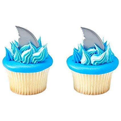 Shark Fin Cupcake Picks - 24 pc (Best Pics Of Birthday Cakes)