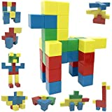 Intock Magnetic Blocks, 40 Pieces Set, 40 Pcs Magnetic Cube Building Toys, Assorted Colors, Simple Design, Yet Unlimited Imagination Magnetic Building Blocks, STEM Toys, & Fidgets Stress Relief Toys