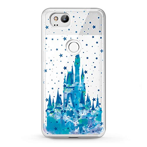 Lex Altern Google Pixel Case XL 2 Castle TPU Clear Disney Flexible Pattern Cinderella Phone Coverage Stars Transparent Design Blue Soft Girly Teen Women 2016 Silicone Stylish Lightweight 2018 Cute