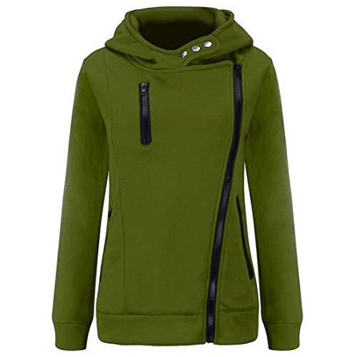 Cappotto Vestibilità Cerniera Mantieni Cappuccio Femminile Slim Maglione Con Army Green Tops Aiweijia Addensare Caldo hCsrtdxQ