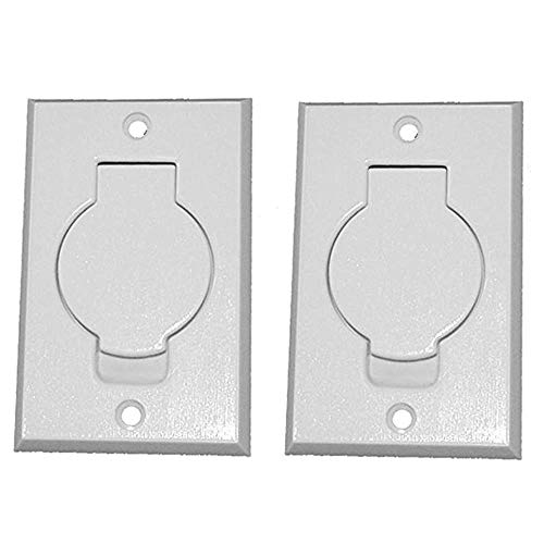(2) Central Vacuum White Inlet Valves for Beam Central Vac - White Round Door