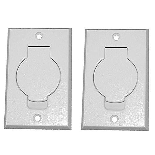 (2) Central Vacuum White Inlet Valves for Beam Central Vac - White Round - Vacuum Central Parts