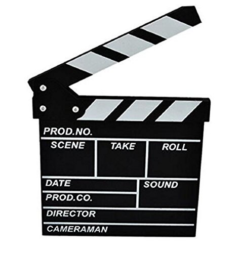 Wendin Wooden Clapboard Director Film Movie Cut Action Scene Slateboard Clapper Board Slate Black -
