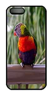Rainbow Lorikeet Animal PC Case Cover for iPhone 5 and iPhone 5s ¨CBlack