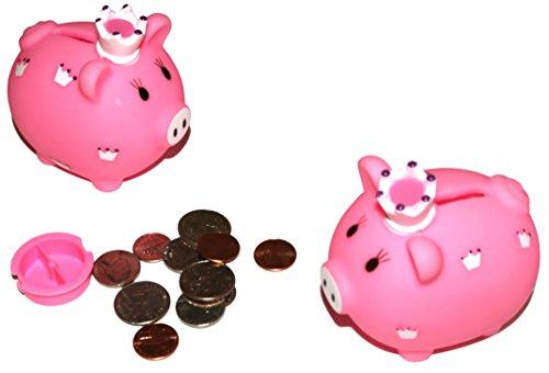 Little Princess Piggy Bank For Kids Coins Savings. (Pack of 6)