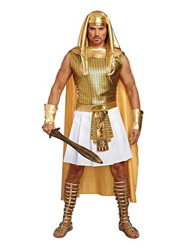 Halloween Costumes Egyptian (Dreamgirl Men's Ramses, Gold/White,)