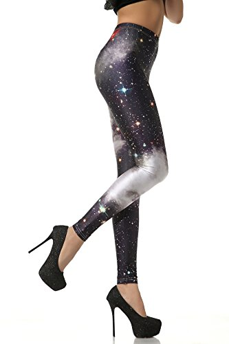 sunzel-womens-galaxy-space-print-leggings-pant-stretch-tights-clouds-black-galaxy