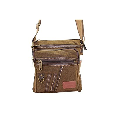 on sale Women's Black Vintage Denim Cross Body Casual Bag Canvas Purse Hiking Travel
