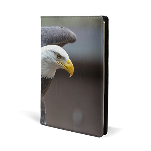 American Bald Eagle Book Covers, Fits Most Hardcover Textbooks up to 8.7X5.8. PU Leather School Book Protector. Easy to Put On Jacket