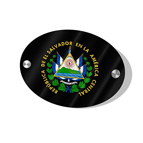 (Layapan Door Sign El Salvador Coat of Arms Wall Decorative Signs Plaques for Offices Hotels Stores Home Decor)
