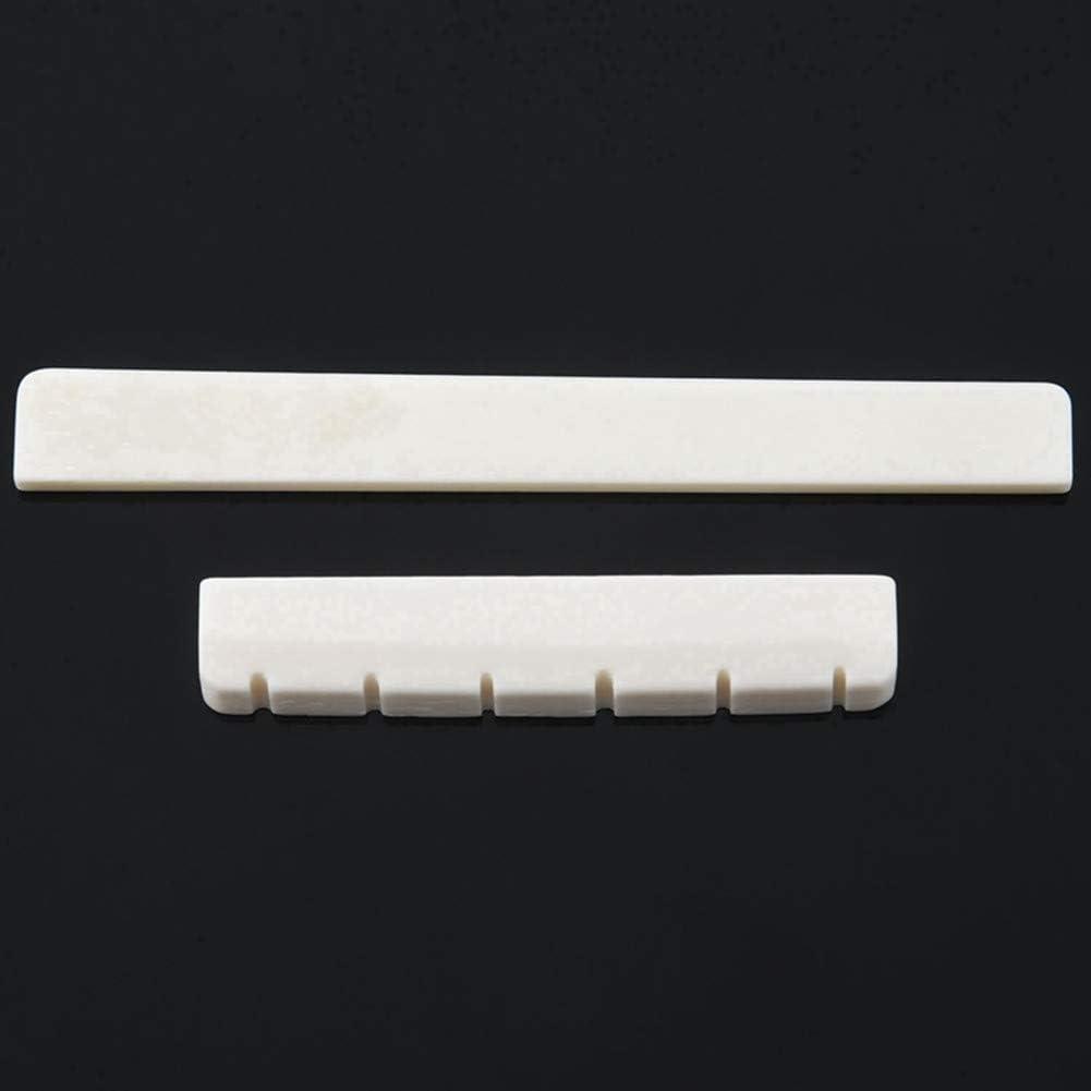 Nut White Bone Bridge Saddle Thboxes 6 String Classical Guitar Bridge Saddle