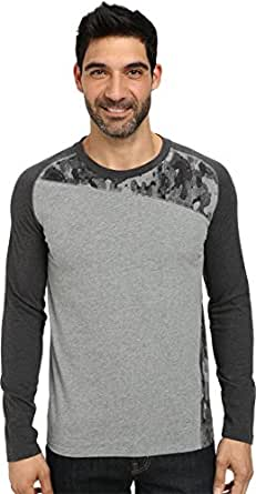PUMA Men's MMQ Long Sleeve Pieced Tee Medium Gray Heather T-Shirt LG