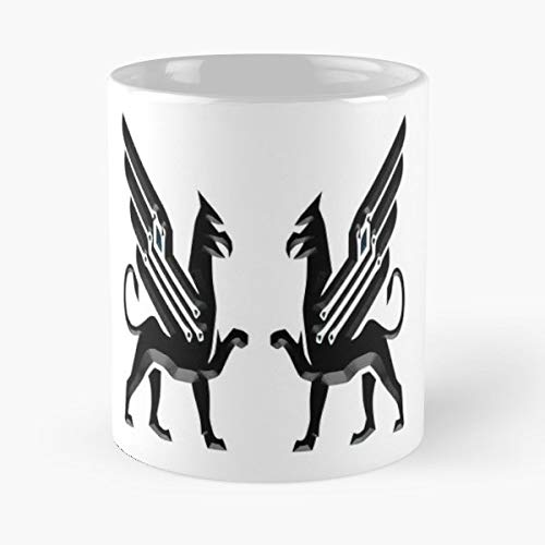 (Cyber Art Nouveau Dragon Beast Funny Floral Coffee Mugs Gifts)