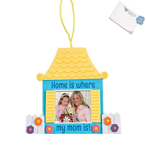 Bargain World Home Is Where My Mom Is Picture Frame Craft Kit (With Sticky Notes) by Bargain World (Image #4)