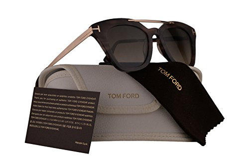 Tom Ford FT0575 Anna-02 Sunglasses Havana Gold w/Roviex Gradient Lens 55K - Tom Eyewear Ford Women