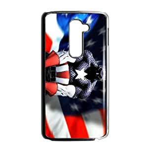 Captain America 001 LG G2 Cell Phone Case Black TPU Phone Case RV_649940