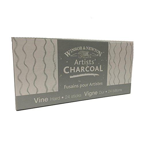 Winsor & Newton Artists' Vine Charcoal Sticks, 24/Pkg - Hard,