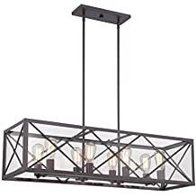 Designers Fountain 87338-SB High Line 8 Light Linear Chandelier