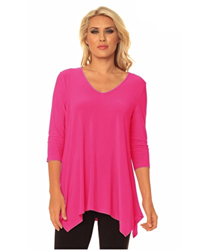 Alisha.D Travel Wear Tunic Summer Colors (X-Large, Pink) ()