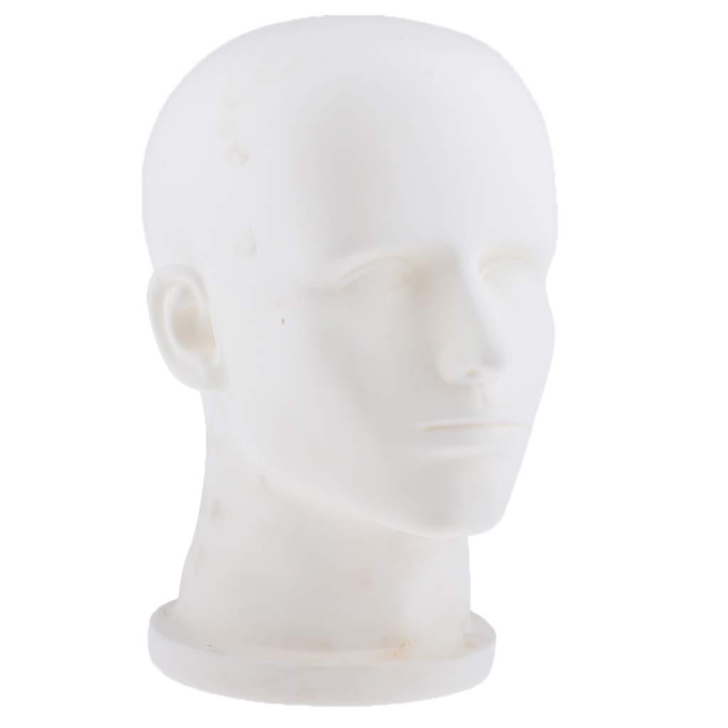 Homyl Modelo Cabeza de Maniquí Soporte de Peluca Estante de Mostrar Porta de Sombrero - Beige