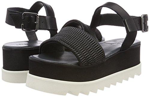 Women's cosico Sandals Oslo Csv10 Henny Biz Shoe Velvet Platform Black qzPwI5PYc