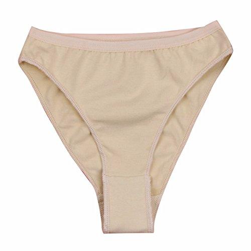 TiaoBug Professional Girl Ballet Dance Briefs Shorts Gymnastics Underpants High Cut Knickers Panty Underwear Nude ()