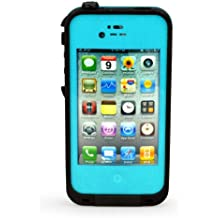 Waterproof Shockproof Dirtproof Snowproof Protection Case Cover for Apple Iphone 4 4S (A-Unique!For iPhone 4/4S, Teal) (blue)