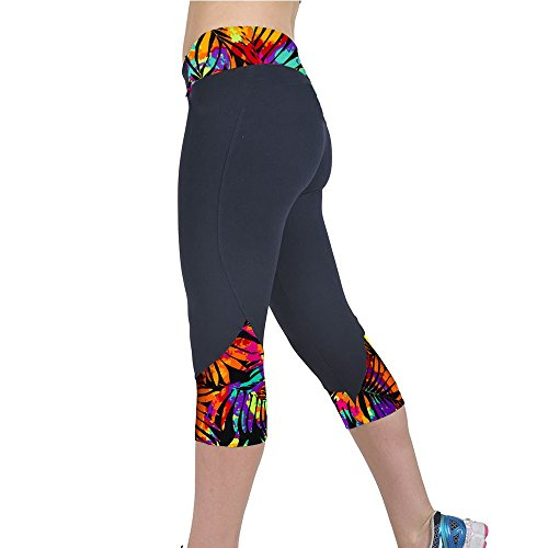 KIKOY Women's High Waist Fitness Yoga Gym Pants Printed Stretch Cropped Leggings