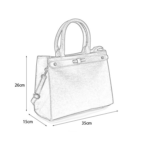 Young Tote Detachable Boxy Shoulder Women With ladies Bag Fashion Purple Strap Handbags Sally OFpwdgTOq
