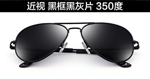 grados cenizas 350 100 sol Gafas polarizadas Black gafas sol Komny sol Black Degrees con gafas negro negras de Frame de MS pionero marco Gafas Ash de Gafas marea qCF1HwF