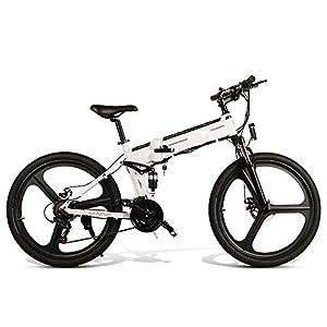 41UiMNhYCAL. SS300 HUATXING 26 Pollici Pieghevole Bici elettrica di Alimentazione Assist Bicicletta elettrica Siamesi Rim Scooter 48V 10AH…