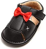 Baby Boys Girls Summer Bow Sandals PU Leather Rubber Sole Non-Slip Toddler Shoes