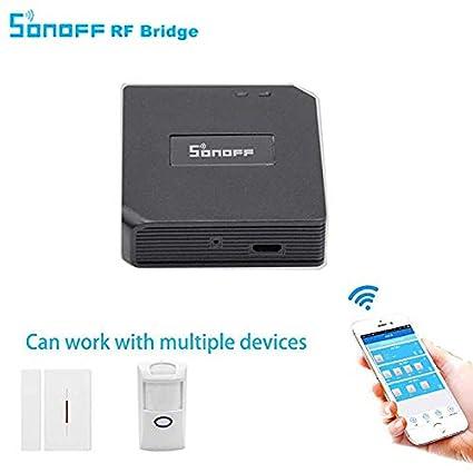 Sonoff RF Bridge WiFi 433Mhz + PIR2 PIR Infrared Human Sensor + DW1 Door  and Window Alarm Sensor for Smart Home Remote Control by iOS