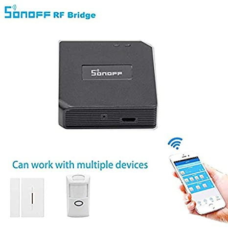 3 in 1 Kits:Sonoff RF Bridge WiFi 433Mhz + PIR2 PIR Infrared Human Sensor + DW1 Door and Window Alarm Sensor For Smart Home Remote Control by iOS ...