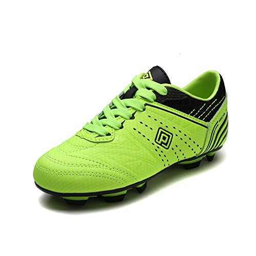 DREAM PAIRS Toddler 160859-K Neon Green Black Soccer Football Cleats Shoes - 10 M US Toddler (Cleats Soccer 10 Kids Size)