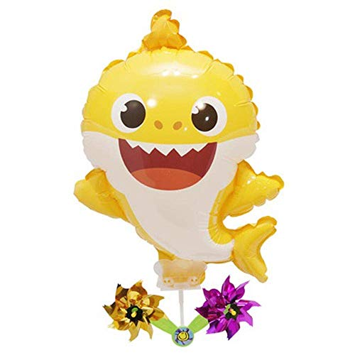 (Pinkfong Baby Shark Balloon with Pinwheel Birthday Picnic Party Supplies )