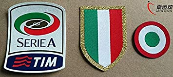Petsdelite 3 Sets A Pack 15 16 Juventus Serie A Patches Set Silicone Serie A Red Coppa Italia Circle Chest Scudetto Amazon In Home Kitchen