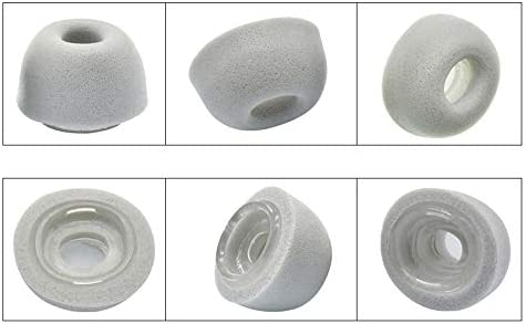 1 Pair SML Memory Foam Ear Tips Compatible with Apple AirPods Pro Headphones Wireless Headsets Small Medium Large Ear Gels Eartips Earbuds Earplugs Ear Buds Cover Case Earphone Tips Eargels Earpads (L, 黒)