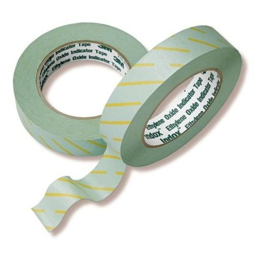 3M Health Care 1224-1 Indicator Tape for EO, 1'' x 60 yd. Size, Green (Pack of 18)
