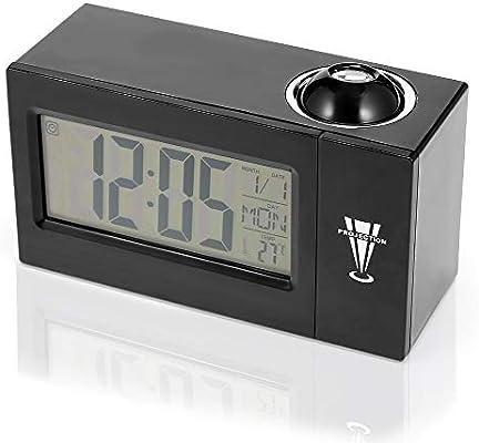 ZYJCC Despertador Proyección de Led Reloj Despertador Reloj ...
