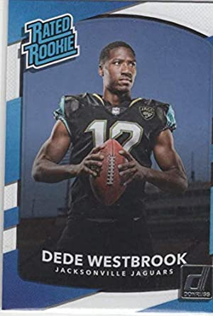 5cedb4536 Amazon.com  Football NFL 2017 Donruss  337 Dede Westbrook Rated ...