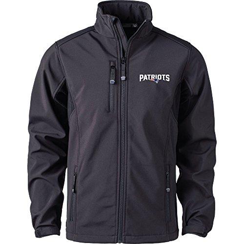 (Dunbrooke Apparel NFL New England Patriots Men's Softshell Jacket, X-Large, Black)