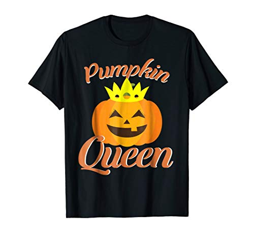 Halloween Pumpkin Queen Crown Shirt]()