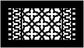 Reggio Register Scroll Series Cast Iron Metal Floor Grille 814 H 12 X 6 Black With Mounting Holes Amazon Com