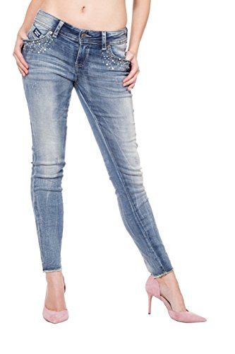 Basic Blau Donna Jeans Blue Monkey HwRx7q4