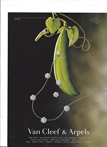**PRINT AD** For Van Cleef & Arpels Diamond Fleurette Necklace Pea Vine (Scene Diamond Necklace)