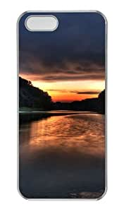 Dusk evening landscape PC Transparent fun iphone 5S cover for Apple iPhone 5/5S by runtopwell