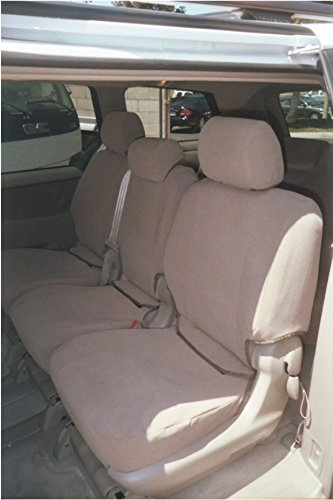 - Durafit Seat Covers, SN9-TAN Seat Covers for all 3 Rows of the Toyota Sienna LE 8 Passenger Van in Tan Automotive Velour