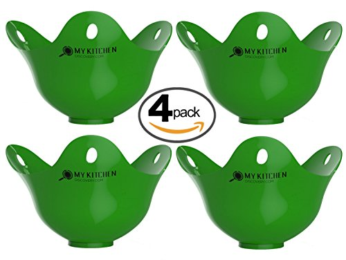 Egg Poacher Cups - Premium Silicone Poaching Pods - BPA Free - FDA Approved - For Stovetop or Microwave -...